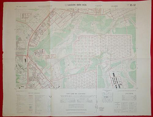 MAP - 85-67 - BIEN HOA COMBAT BASE - 1970 - US MILITARY AIR BASE - Vietnam War