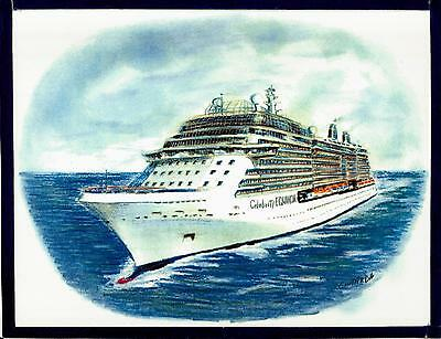 Original Art Work  Celebrity Equinox     Celebrity Cruises   Cruise Ship