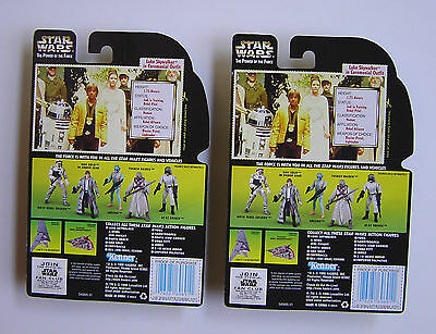 2 LUKE CEREMONIAL OUTFIT VINTAGE STAR WARS POTF FIGURES 1996 NEW In PACKAGE - $7.99
