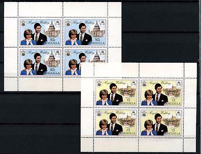 Anguilla 1981 SG#468wa-469wa Royal Wedding Booklet Panes Wmk Upwards MNH #D57911