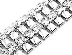 Silver Diamante/Diamond Ladies Waist Chain/Charm Belt - One Size Fits All - 479