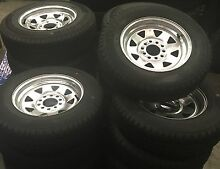 Galvanised Trailer Wheels multi fit  13-14 inch (Tas Bearing &Chain) Derwent Park Glenorchy Area Preview