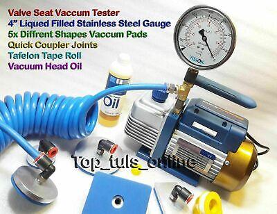Eléctrico Válvula Asiento Vacío Prueba Kit Diesel Gasolina Gasolina Cabezas