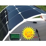 100W Watt 18V Semi Flexible Bendable Cell Solar Panel Battery RV Boat Camping US