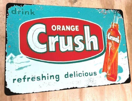 "1953 Drink Orange Crush Vintage Retro Metal Sign 12"" x 18"""