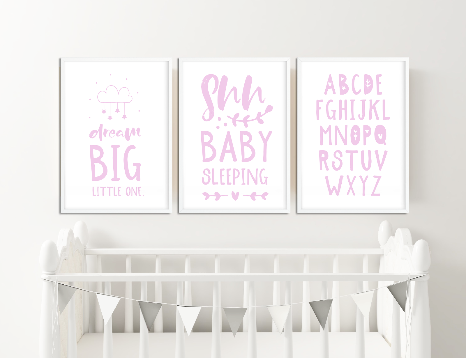 Details about Pink Nursery Prints for Girls Bedroom Pictures Baby Room  Decor Ideas Baby Gift