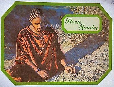 Original Stevie Wonder Iron On Transfer Corn Rows