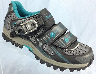 12e8f74ce76 Pearl izumi X-Alp Enduro III Bike Cycling Shoe Grey Teal 36 Womens US sz 5  - 5.5