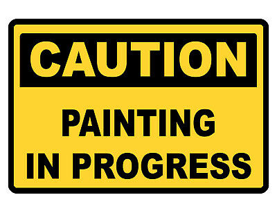Caution Painting Sign Custom Metal Sign Durable Aluminum No Rust Sign Dd274
