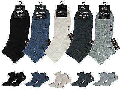 Damen Diabetiker-quarter Socken (6 Paar Damen Diabetiker Quarter Socken Kurzschaftsocken ohne Gummi und ohne Naht)