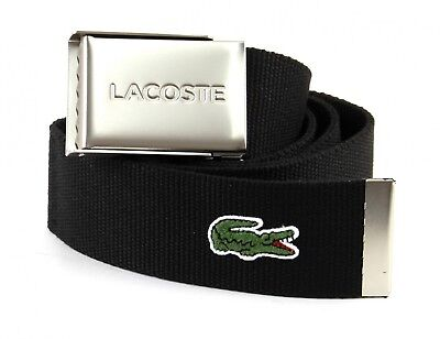 LACOSTE Casual Woven Strap W110 Gürtel Accessoire Black Schwarz Neu