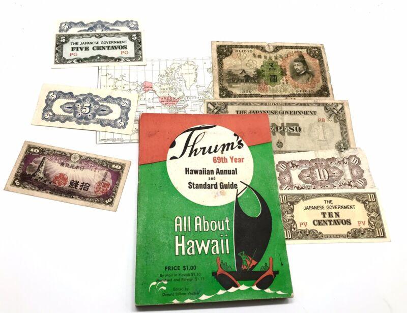 Thrum's 69th Year Hawaiian Annual Standard Guide 1944 Hawaii WWII Japanese Money