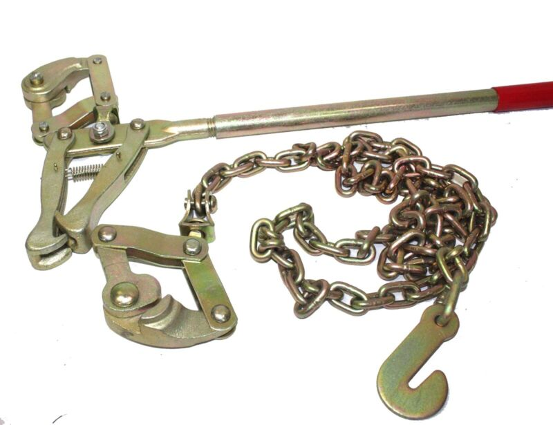 Chain Strainer Cattle Barn Farm Fence Stretcher Tensioner Repair Barbed Wire