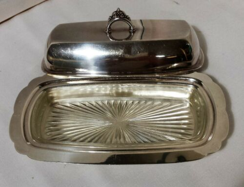 B. ALTMAN CO  SILVERPLATE COVERED BUTTER DISH #70 and GLASS LINER