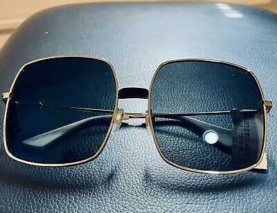 GUCCI~SUNGLASSES  gold w / blue mirrored lens MSRP $595