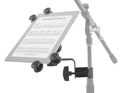 Universal Tablet PC Halter Halterung Mikro Stativ Ständer Klemme Musik schwarz