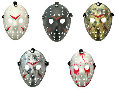 Hockey Maske Plastik Jason Horror Friday Halloween Kostüm Erwachsene - Jason Kostüm Kinder