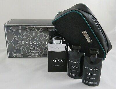 BVLGARI BULGARI MAN Black Cologne Set 100 ml EdT+75 ml AS+75 ml Duschgel+Bag