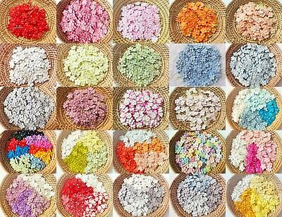 Mulberry Paper Flower embellishment with thread stem 10 mm. (Flower Embellishment)