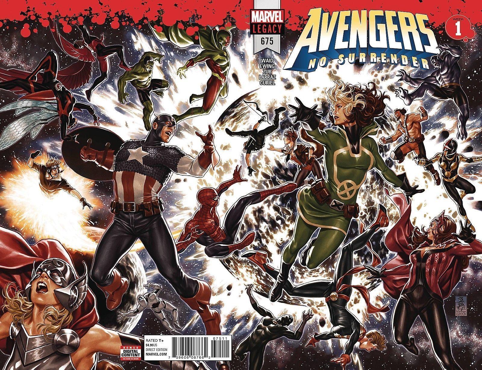 Avengers #675 MARVEL Legacy NM No Surrender Part 1 Lenticular Wrap Cover