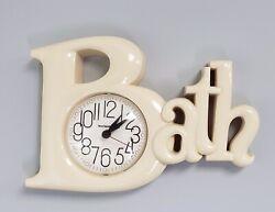 Vintage New Haven Quartz BATH Wall Clock Kitschy Retro