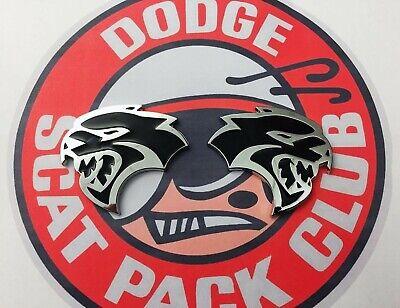 PAIR SCAT PACK CLUB EMBLEMS NEW FITS DODGE MOPAR CHALLENGER CHARGER HELLCAT