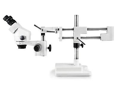 Vision Binocular Zoom Stereo Microscope W Double Arm Ball-bearing Boom Stand