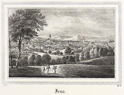 JENA - GESAMTANSICHT - Saxonia - Lithografie 1834/1835