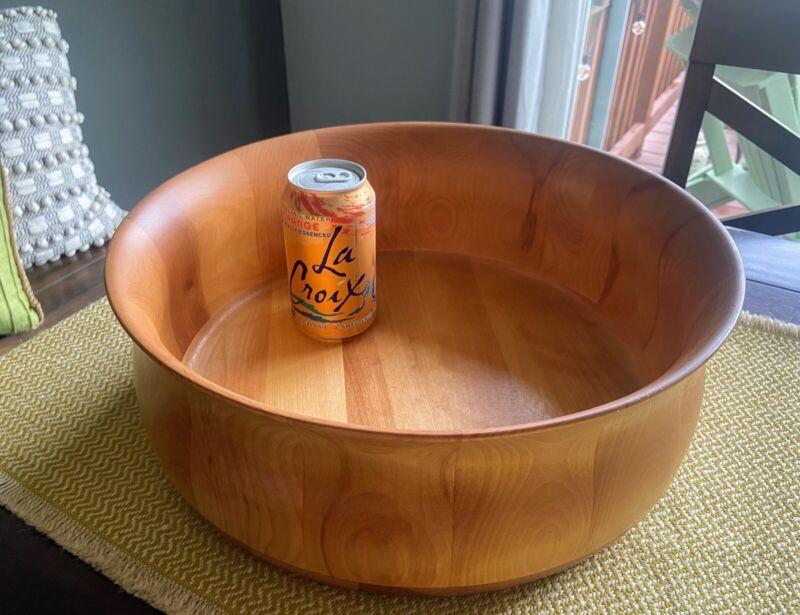 "Williams Sonoma LARGE Vermont Tulip Bowl Company John McLeod Designs 14.5"" Diam"