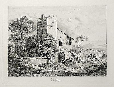 LUDWIG RICHTER - Malerische Ansichten von Rom - 6 Blätter - Radierung 1832