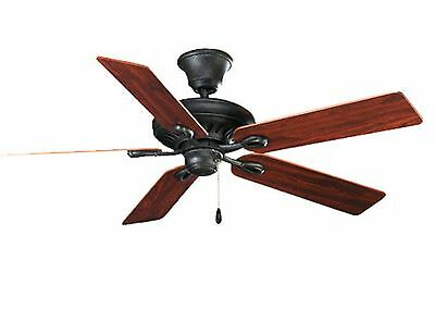 Progress Lighting 52-Inch 5-Blade Ceiling Fan, Gilded Iron #P2521-71 -New