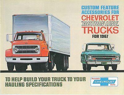 Chevrolet Truck Accessories Brochure - 1967 CHEVROLET TRUCK  GENUINE ACCESSORIES BROCHURE-COVERS ALL MODELS