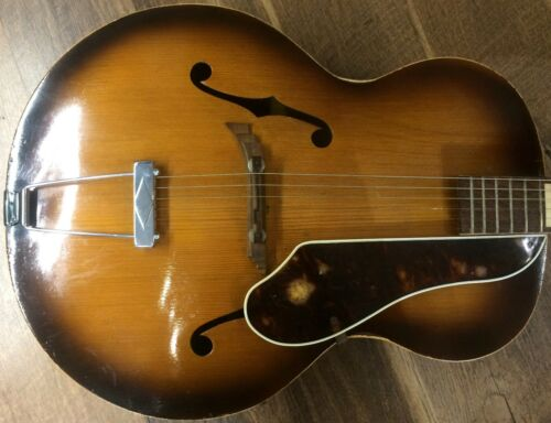 1949 Gretsch Synchromatic Model 100 6014 Sunburst Finish Archtop Acoustic Guitar