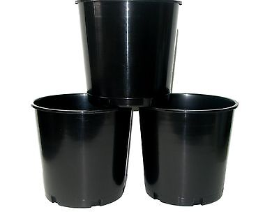 6 Black Offering Buckets, Ice Buckets Holds 176 Ounces Mfg. USA Lead Free
