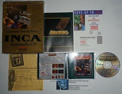 INCA PC 1992 Sierra MS-DOS Game CD Rom Version Complete in Box CIB