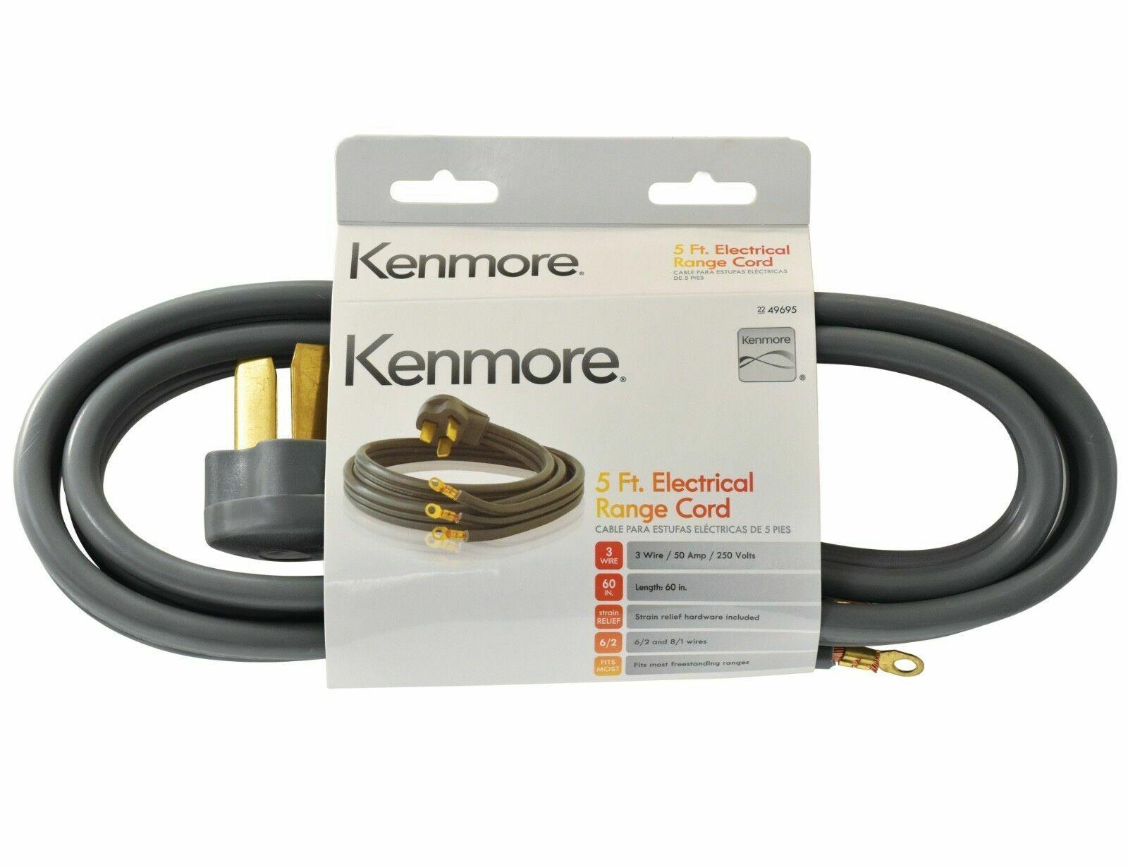 3 prong 5 round gray range cord