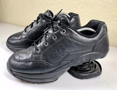 Z-Coil LEGEND Men Black Leather Pain Relief Orthotic Comfort Walking Shoes 10M