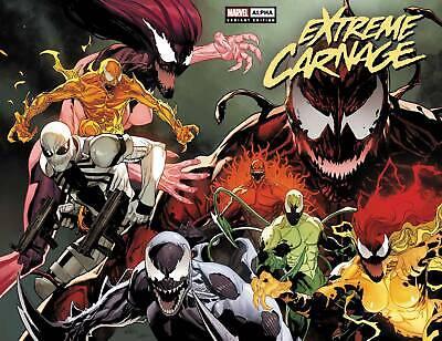 Extreme Carnage Alpha #1 Yu Wraparound Variant Cover