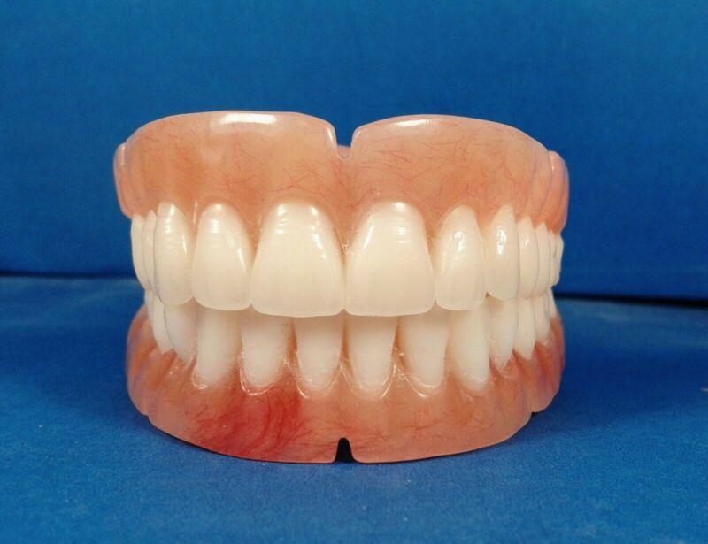 Dentures, set of false teeth with Hollywood bleach shade teeth