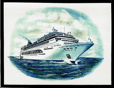 Original Art Work     Msc  Opera    Msc    Cruise Ship