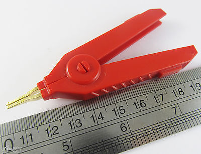 10pcs Red High Quality Copper Alligator Kelvin Test Clip Clamp Gold Plated Clip