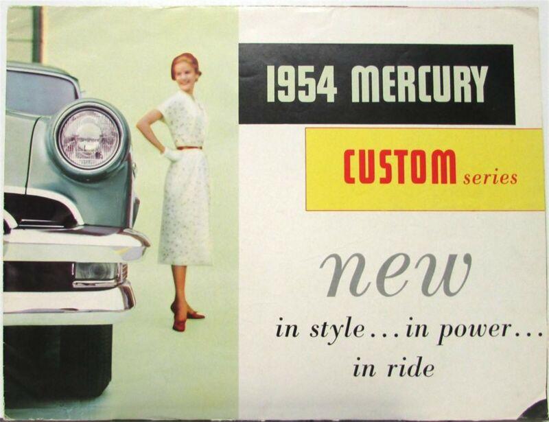 1954 Mercury Custom 2 & 4 Door Sedan Series Canadian Sales Brochure Folder Orig