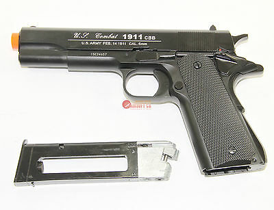 Airsoft CO2 Blowback WG 1911 Pistol Fast Magazine Full Metal (1911 Airsoft Gas Blowback Pistol)