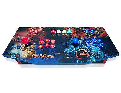 Arcade Control Panel with Custom Graphics and Sanwa Control Kit, MAME, Cam Lock