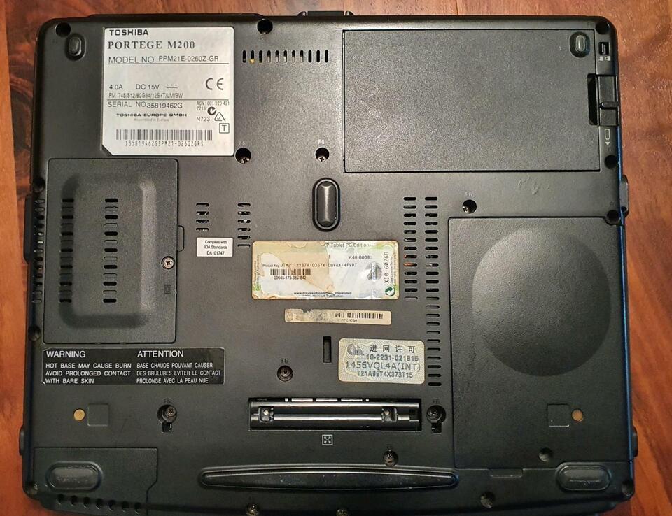 Toshiba Portege M 200 m. Original Netzadapter, Stift und Akku in Nordrhein-Westfalen - Nettetal