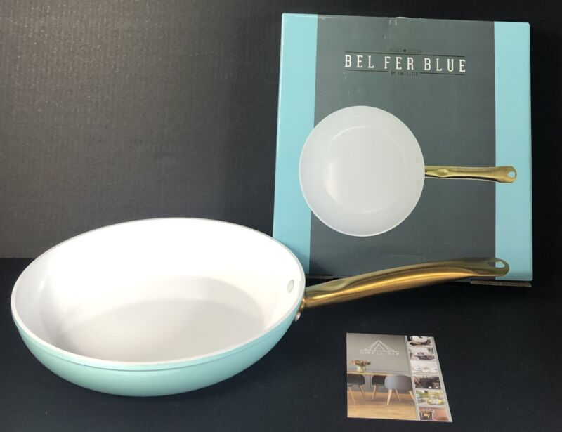 "DwellSix Bel Fer Blue, 11.2"" Frying Pan, Limited Edition, Turquoise (NIB)"