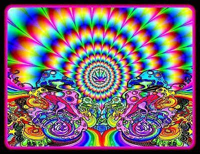 "4.75"" Psychedelic Mushroom Vortex vinyl sticker. Trippy LSD, weed vision decal."