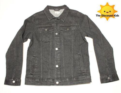 Boys Black Denim spring Jacket Size LG 10-12 0321B5denLG