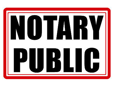 Notary Public Sign No Rust Durable Aluminum Weatherproof Sign Full Color