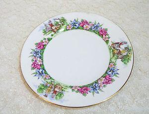 Evangeline-039-s-Acadian-Gardens-Crown-Staffordshire-8-1-2-034-Plate